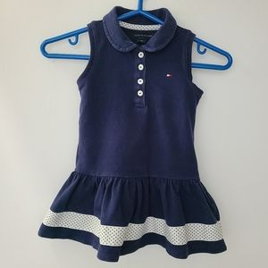 GUC Tommy Hilfiger Navy Polo Style Dress 18 M